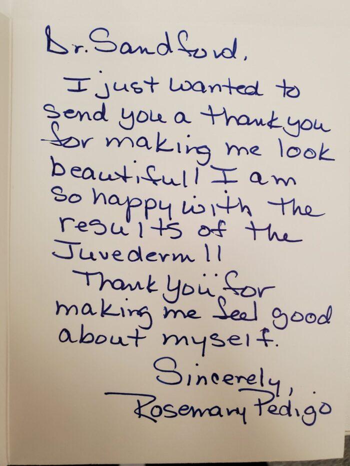 Handwritten Patient Review